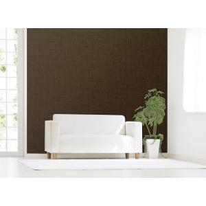 明和グラビア のり残しなしではがせるアクセント壁紙/WAP-500 ムジ ブラウン/92x250cm|ouchi-style