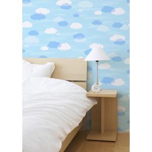 明和グラビア のり残しなしではがせるアクセント壁紙/WAP-505 雲 雲/92x250cm|ouchi-style