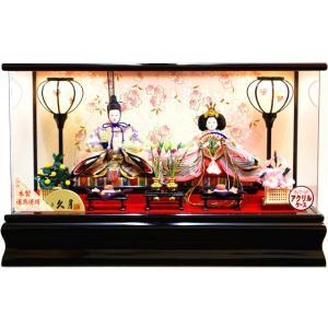 雛人形 久月作 よろこび雛 二人親王パノラマケース飾り 15153|ouchiku