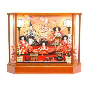 雛人形 久月作 三人官女 よろこび雛 五人 ケース飾り 19064