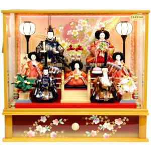 雛人形 桜雅作 七人 御雛 ケース飾り 35711