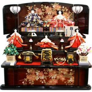 雛人形 天使の十二単衣 三段飾り 千匠作「雛ごよみ」45A-17
