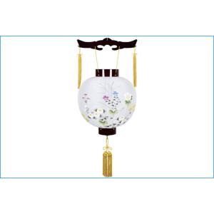 盆提灯 吊提灯 ワイン絹絵入 御殿丸 8016-11-132E ご注文より3日〜4日後の発送 ouchiku