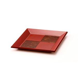 樺細工 「紅桜 square」 トレイ 秋田伝統工芸(桜皮細工)|ouchiku