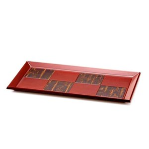樺細工 「紅桜 rectangle」 トレイ 秋田伝統工芸(桜皮細工)|ouchiku