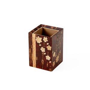 樺細工 「ペンスタンドsquare」 秋田伝統工芸(桜皮細工)|ouchiku
