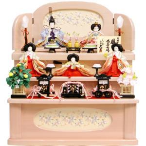 雛人形 久月作 「よろこび雛」 収納式 三段飾り S-32241