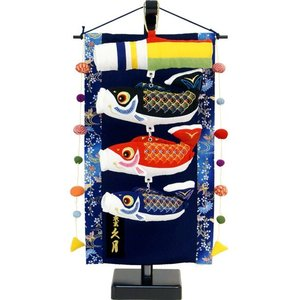 五月人形 久月作 「室内 鯉のぼりタペストリー」吊るし飾り(SIK-09)|ouchiku