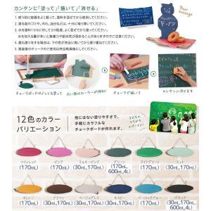 ターナー色彩 チョークボードペイント 170ml 全12色 黒板になる塗料 水性塗料 リメイク DIY|ouchioukoku|03
