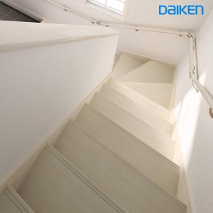 DAIKEN(大建工業) ハピア階段 ベーシック柄箱型 【箱2段廻踏板】|ouchioukoku