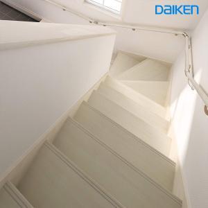 DAIKEN(大建工業) ハピア階段 ベーシック柄箱型 【箱180°均等五段廻蹴込板】|ouchioukoku