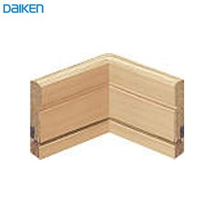 DAIKEN(大建工業) ハピア システム造作部材 巾木入隅 4本/梱 スライドタイプ(MDF基材) ouchioukoku