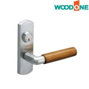 WOODONE(ウッドワン) レバーハンドル [J型木製シルバー(ヘアライン塗装)・鍵付錠(キー3本付き)]【ZH11J4-F】|ouchioukoku