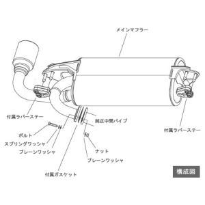 ミツビシ RVR GA4W 11/11〜14/03 HKS マフラー LEGAMAX Premium 32018-AM009|ouen|02