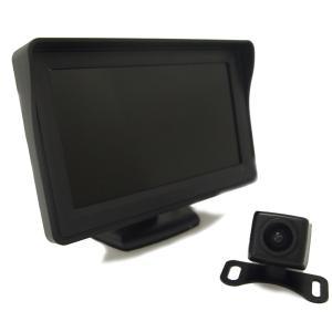 液晶モニター&バックカメラセット 防水バックカメラA0119...