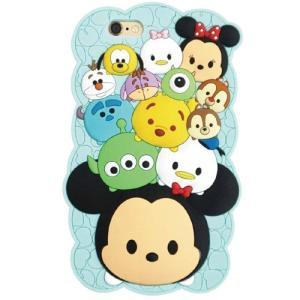 特価 iPhone6S・6対応/ディズニー ツムツム(TSUMTSUM)ブルー/シリコンカバー/ソフトジャケット/DN-270BL(代金引換はできません)|oupace