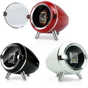 ワインディングマシーン 1本巻 センターストップ・ダイレクトドライブ搭載 静音設計 JBW090 自動巻き時計の保管に|oupace