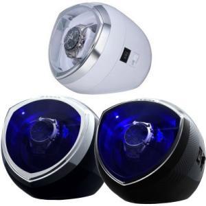 Jelphy ワインディングマシーン LED搭載 4モード対応 マブチモーター 自動巻き 時計 ウォッチワインダー 1本巻 JP003 送料無料|oupace