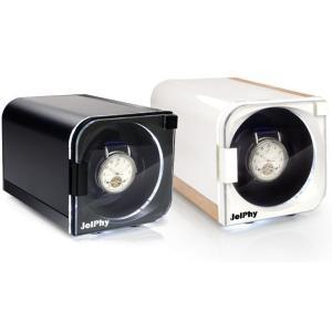 Jelphy ワインディングマシーン LED ウォッチワインダー マブチモーター 自動巻き 腕時計 1本巻 KA101 送料無料|oupace