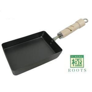 玉子焼き小 極ROOTS 日本製 錆びにくい 鉄フライパン IH対応 リバーライト 鉄製 卵焼き