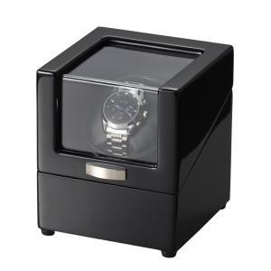 木製ワインディングマシーン 1本巻 2電源対応 電池式駆動可能 マブチモーター ウォッチワインダー JelPhy WW-1219BL 自動巻き時計に 腕時計|oupace