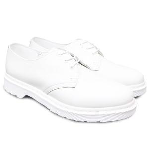 DR.MARTENS ドクターマーチン ワークブーツ メンズ レディース ユニセックス 1461 MONO 3EYE SHOE WHITE ホワイト 白|our-s