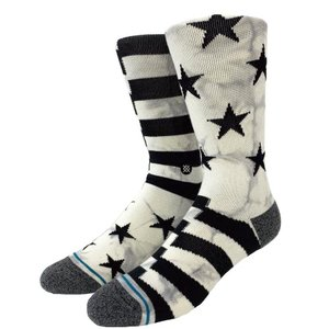 STANCE SOCKS スタンス ハイソックス 靴下 SIDEREAL 2 星条旗 アメリカ 白黒|our-s