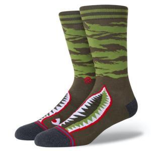 STANCE SOCKS スタンス ハイソックス 靴下 WARBIRD オリーブ グリーン 緑|our-s