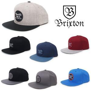 BRIXTON ブリクストン キャップ 帽子 WHEELER SNAPBACK 6色 グレー ブラック 黒 ブルー ブルー レッド|our-s