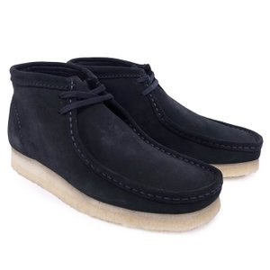 CLARKS クラークス ワラビーブーツ シューズ WALLABEE BOOT BLACK SUEDE ブラック 黒|our-s