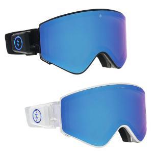 ELECTRIC エレクトリック ELECTRON ゴーグル スノーゴーグル スノーボード スノボ スキー レンズ交換不要 ケース付き ブラック 黒 ホワイト 白|our-s