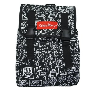 KEITH HARING キースヘリング バックパック リュックサック デイパック MULTI PATTERN BACKPACK BLACK ブラック 黒|our-s