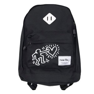 KEITH HARING キースヘリング バックパック リュックサック デイパック ONE POINT BACKPACK BLACK ブラック 黒|our-s