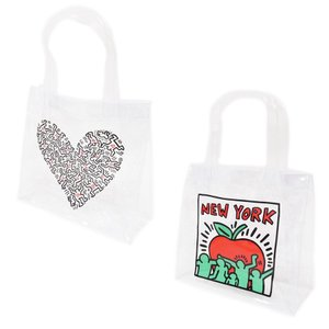 KEITH HARING キースヘリング ハンドバッグ トートバッグ クリアバッグ デイパック レディース ONE POINT CLEAR BAG 透明 クリア our-s