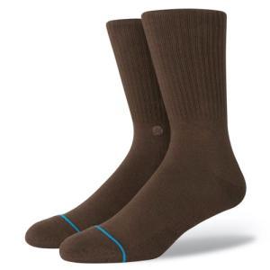 STANCE SOCKS MENS 靴下 スタンス ハイソックス メンズ スケート ICON ブラウン|our-s