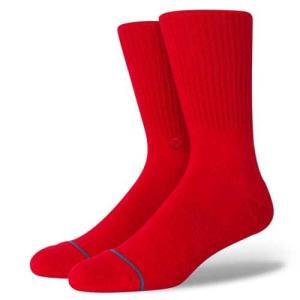STANCE SOCKS MENS 靴下 スタンス ハイソックス メンズ スケート ICON レッド 赤|our-s