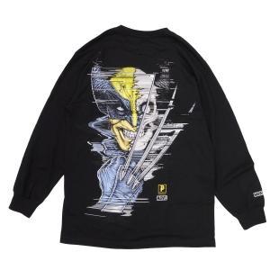 PRIMITIVE プリミティブ ウルヴァリン MARVEL マーベルコミック PJ WOLVERINE L/S TEE 長袖Tシャツ カットソー 黒 ブラック|our-s