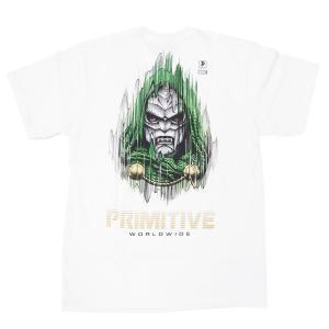PRIMITIVE プリミティブ ドゥーム MARVEL マーベルコミック PJ DOOM S/S TEE 半袖Tシャツ カットソー ホワイト 白|our-s