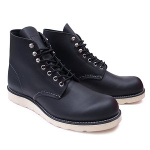 RED WING レッドウィング ワークブーツ Dワイズ 8165 6INCH ROUND TOE BOOTS BLACK|our-s