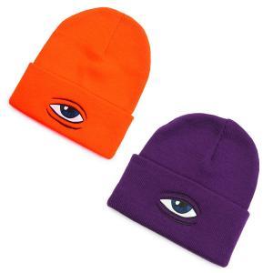 TOY MACHINE トイマシーン メンズ レディース ユニセックス ビーニー 帽子 ニット帽 ハット オレンジ パープル SECT EYE BEANIE our-s