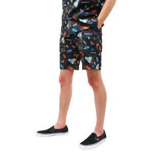 TOY MACHINE トイマシーン メンズ レディース ユニセックス SECT EYE PRINT SHORT PANTS BLACK ショーツ ブラック 黒|our-s