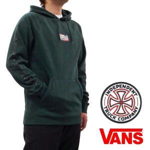 VANS バンズ INDEPENDENT インディペンデント VERSA HOODIE プルオーバーパーカー コラボ グリーン 緑|our-s