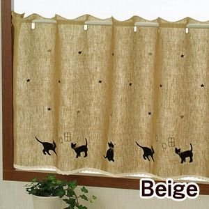 キャッツ カフェカーテン 巾120cm×丈45cm ousama-c 02