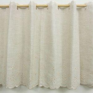 リネア カフェカーテン 巾120x丈45cm|ousama-c
