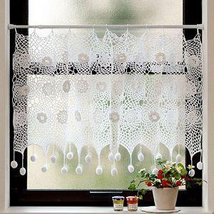 マカロン カフェカーテン 巾約100x丈約50cm|ousama-c
