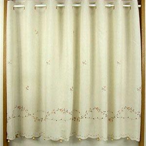 マリス カフェカーテン アイボリー 巾150x丈90cm|ousama-c