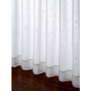 カーテン 遮像&遮熱/小花柄レースカーテン アイボリー巾100cm×丈198cm  2枚組/在庫品/OUL0257|ousama-c
