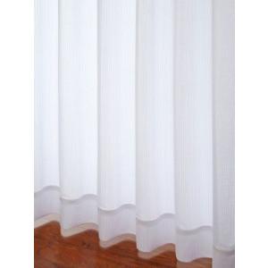 カーテン 遮像 遮熱 ウェーブロンサラクールレースカーテン ホワイト M 1枚/100サイズ/OUL0245|ousama-c