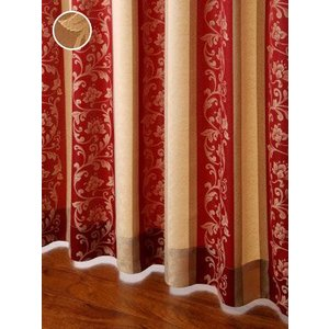 カーテン 唐草柄ジャガードカーテン 巾100cm×丈135cm  2枚組/100サイズ/OUD0159|ousama-c
