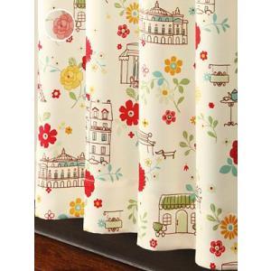 カーテン 可愛いレトロパリジェンヌ風カーテン S 1枚/100サイズ/OUD0834|ousama-c